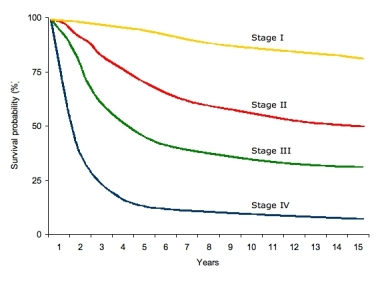 melanoma-overall-survival-by-stage